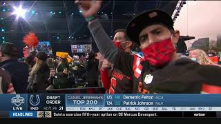 EUROPESE OMROEP | OPENN  | Roger Goodell Gets Booed By Cleveland | 2021 NFL Draft