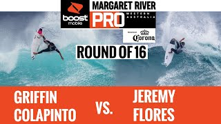 EUROPESE OMROEP | OPENN  | Griffin Colapinto vs Jeremy Flores HEAT REPLAY Boost Mobile Margaret River Pro presented by Corona