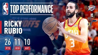 EUROPESE OMROEP | NBA | Ricky Rubio Leads The Jazz A Game 3 Victory With A Triple Double! | 1524372748 2018-04-22T04:52:28+00:00