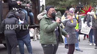 EUROPESE OMROEP OPENN USA: Protesters rally in Minneapolis a