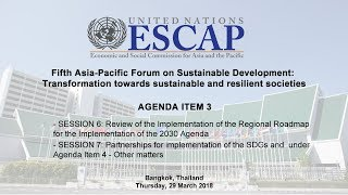 EUROPESE OMROEP | United Nations ESCAP | APFSD (Day 2) - AGENDA ITEM 3: Session 6 & 7 | 1522320936 2018-03-29T10:55:36+00:00