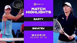 EUROPESE OMROEP | OPENN  | Ashleigh Barty vs. Iga Swiatek | 2021 Madrid Round of 16 | WTA Match Highlights
