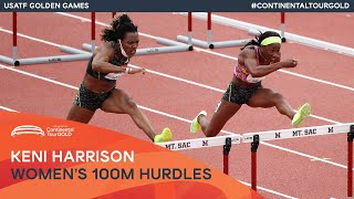EUROPESE OMROEP | OPENN  | Keni Harrison storms to 12.48 over 100m hurdles | USATF Golden Games Continental Tour Gold