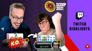 EUROPESE OMROEP | OPENN  | FINTAN & LEX RUNNING DEEP IN SCOOP ♠️ Twitch Highlights ♠️ PokerStars