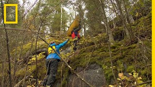 EUROPESE OMROEP | OPENN  | Hauling a Canoe Up a Cliff | Race to the Center of the Earth