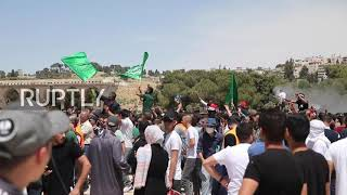 EUROPESE OMROEP | OPENN  | Thousands flock to al-Aqsa mosque for final Ramadan Friday prayers and Quds Day protest