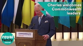 EUROPESE OMROEP | The Royal Family Channel | Prince Charles welcomes heads of Government Meeting at Buckingham Palace | 1524129431 2018-04-19T09:17:11+00:00