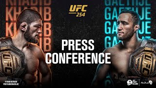 EUROPESE OMROEP OPENN UFC 254: Pre-fight Press Conferen