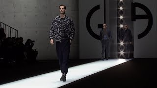 EUROPESE OMROEP | Armani | Giorgio Armani Fall Winter 2018-19 Men's Fashion Show | 1516027525 2018-01-15T14:45:25+00:00