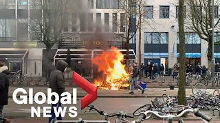 EUROPESE OMROEP OPENN Coronavirus: Anti-lockdown riots in th