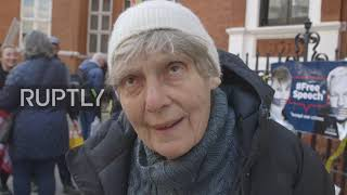 EUROPESE OMROEP OPENN UK: Assange supporters protest ac