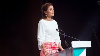 EUROPESE OMROEP | Queen Rania | Graduation Ceremony of the Teacher Education Professional Diploma | 1508173458 2017-10-16T17:04:18+00:00