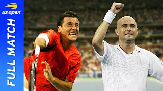EUROPESE OMROEP | OPENN  | Andrei Pavel vs Andre Agassi in a tale of three tie breakers! | US Open 2006 Round 1