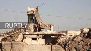 EUROPESE OMROEP OPENN Iraq: Rubble and damaged building