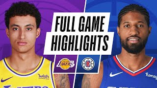 EUROPESE OMROEP | OPENN  | LAKERS at CLIPPERS | FULL GAME HIGHLIGHTS | May 6, 2021
