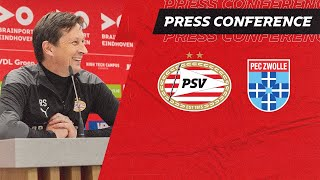 EUROPESE OMROEP | OPENN  | LIVE | Pre-match PRESS CONFERENCE Roger Schmidt #PSVPEC
