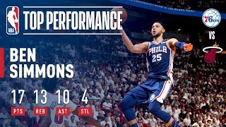 EUROPESE OMROEP | NBA | Ben Simmons Tallies First Playoff Triple Double! | 1524347706 2018-04-21T21:55:06+00:00