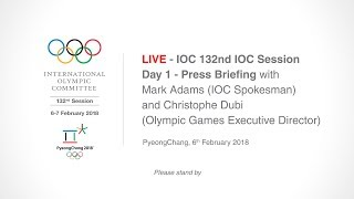 EUROPESE OMROEP | IOC Media | IOC 132nd IOC Session – Day 1 - Press Briefing | 1517912479 2018-02-06T10:21:19+00:00